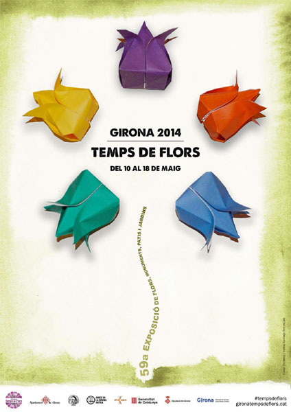Cartell Girona Temps de Flors 2014