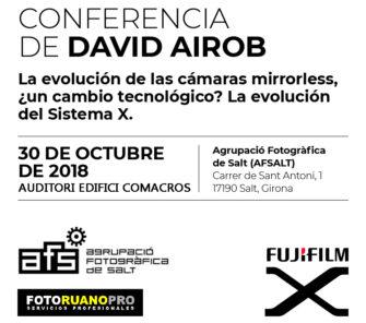 CONFERENCIA DE DAVID AIROB. La evolución de las cámaras mirrorless.
