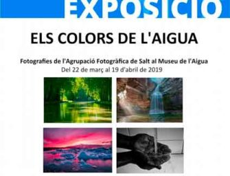 """Exposició fotogràfica """"Els colors de l'aigua"""" al Museu de l'Aigua de Salt"""