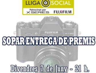 Sopar entrega de premis Lliga Social 2018 – 2019