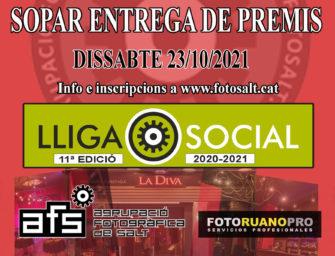Sopar entrega de premis Lliga Social 2020-2021